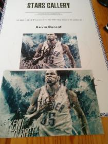 【签名照】NBA球星杜兰特签名照