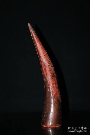 天然牦牛角镇宅辟邪摆件高28厘米宽5.5厘米,重400克