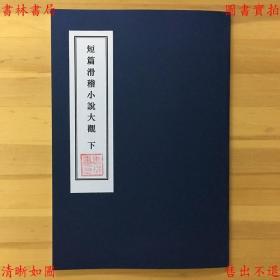 短篇滑稽小说大观 下-赵苕狂-民国上海大东书局刊本(复印本)