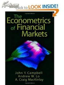The Econometrics of Financial Markets(金融市场的计量经济学)