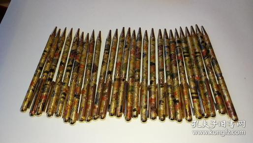 26支台湾产金属雕花圆珠笔,库存全新