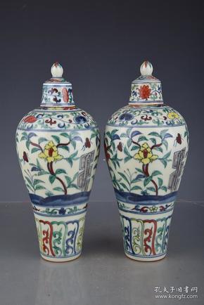 明成化斗彩花朵纹梅瓶