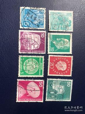 德国邮票 8张合售