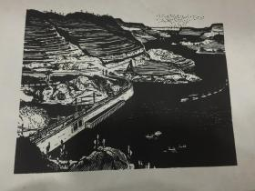 """""""朵云轩""""《平湖》六十年代木版画"""