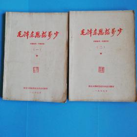毛泽东思想万岁(一、二两册合售)林彪题词完整!前有毛主席彩像