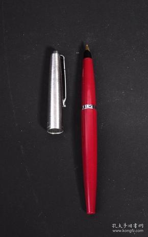 古董60年代英产早期派克45(PARKER 45)红杆半钢镀金尖钢笔
