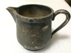 Mantian 国外咖啡杯牛奶杯(NICKEL SILVER 镍银合金) 高8.2cm,口径7.3cm,重290克
