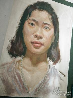 油画女子头像