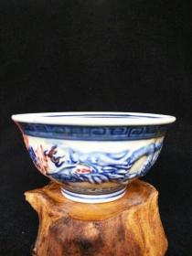 绝版老货 民国仿明代青花瓷碗 景德镇老瓷器(包老)古玩收藏摆Q1Q