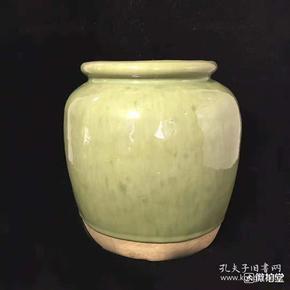 民国宜钧瓷釉卷口罐