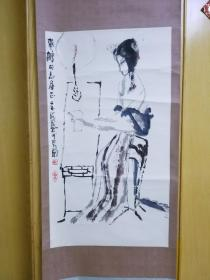 当代长安画派中坚画家王金岭人物画作品