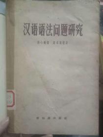 《汉语语法问题研究》