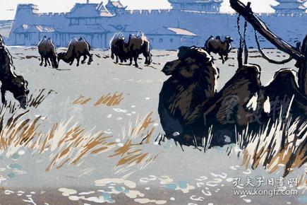 著名版画家、中国美院版画系教授 陈聿强 签名版画《天下雄关》一幅(油印套色;组版画中国百景之长城十景,限定200部之22番)HXTX101389
