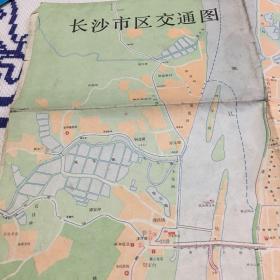 1983年长沙市区交通图
