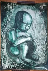 手绘软纸板水粉画:无款20190410-10(大幅)