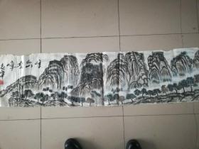 [3462  张志华山水画一幅  横幅