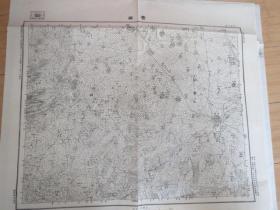 民國地圖2020  山東省  費縣 中華民國三十六年印制 國防測量局 58*45厘米