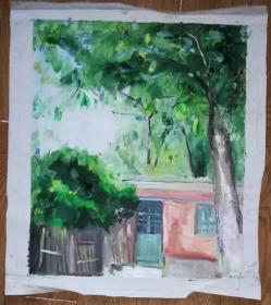 手绘布面油画:段茜珊(风景 60x50)