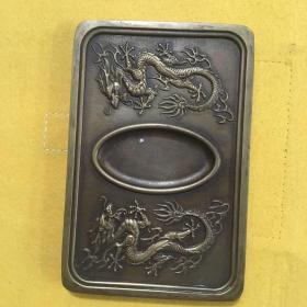 纯铜龙砚台