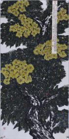 著名畫家、中國書協會員 馬 青原 水墨畫作品《霧雨不成點映空》一幅(紙本托片,約8平尺;作品由《中國美術市場報》直接得自于藝術家本人)   HXTX102271