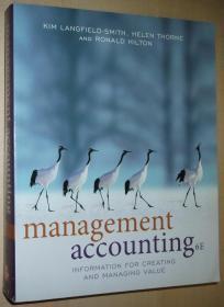 英文原版书 Management Accounting: Information for Creating and Managing Value 6th edition 正版书,彩色印刷