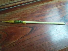 八十年代郃州笔厂出品的二号狼毫斗笔一支,未册封用过,近全新包快递。