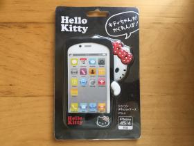 iPhone 4 手机壳 橡胶材质(Hello Kitty) (黑色)