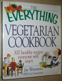 英文原版书 The Everything Vegetarian Cookbook: 300 Healthy Recipes Everyone Will Enjoy Paperback – 2002 by Jay Weinstein  (Author)