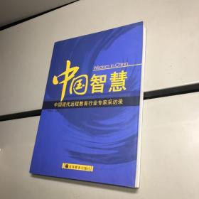 中国智慧:中国现代远程教育行业专家采访录【一版一印 95品+++ 内页干净 实图拍摄 看图下单 收藏佳品】