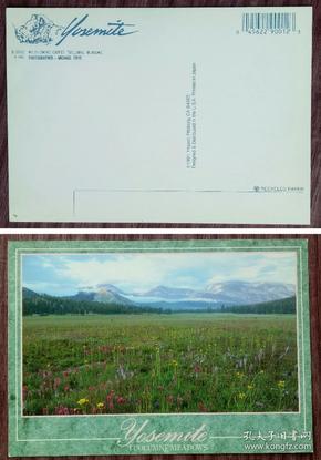 外国二手明信片,美国原版,约塞米蒂公园,品如图
