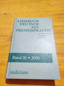 JAHRBUCDEUTSCHALSFMDSPRACHE 波段26 2000 不同文化间的德国的研究