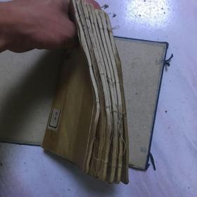 民国 白纸线装 精印画谱《万古楼丛画》8册全 稀见画谱