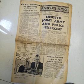 英文老报纸 1973.11.6(内有对中国的报道和王洪文照片)共八个版面