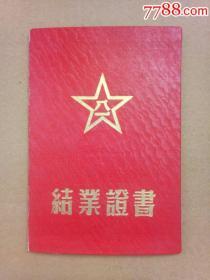 解放军南京军通信军官训练大队结业证