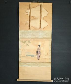 8166:日本回流 :人物图挂轴(回流字画.回流老画.回流真迹)