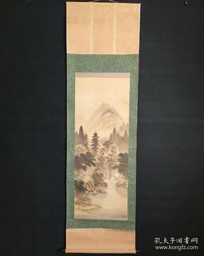 8179:日本回流 :山水图挂轴(回流字画.回流老画.回流真迹)