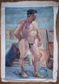 手绘布面油画:oinke(人物 90x60)