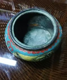 铜胎掐丝景泰蓝香炉