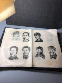 文革时期 毛主席油印版画一批 少见题材,各个时期的头像