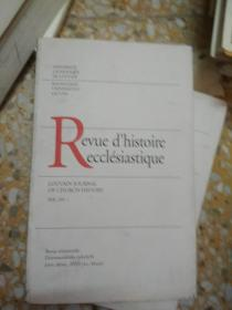 Revue dhistoire ecclésiastique VOL. 105 . 1
