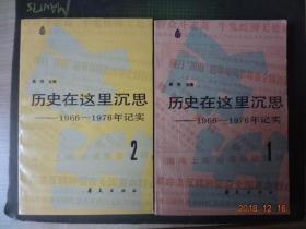 历史在这里沉思(1966-1976年记实)[第1、2册]【2册合售】