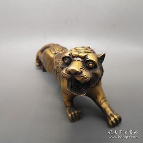 古玩杂项收藏仿古老虎摆件招财虎工艺品摆件特价促销