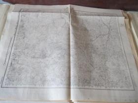 民國地圖 0609  山東省  巫山  民國元年測繪  民國三十六年印刷()58*42厘米