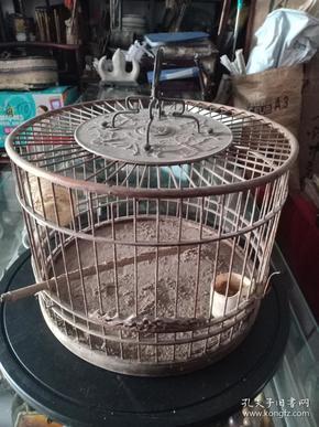 (店)民国老鸟笼一件,蝙蝠寿顶,
