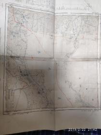 昭和七年 伪满洲国密山军事地图 大日本帝国陆地测量部 带手工标注