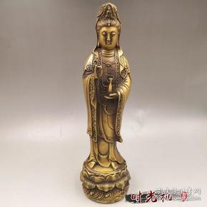 古玩杂项收藏复古观音菩萨摆件铜器特价