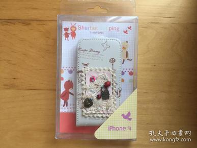 iPhone 4 手机壳 塑料材质 (外层皮革)