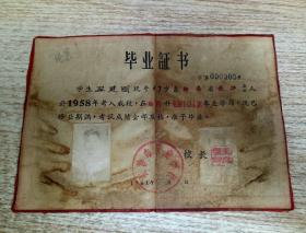 长沙市工业学校毕业证书