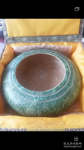 唐三彩绿釉绞胎水丞(亦或围棋罐)