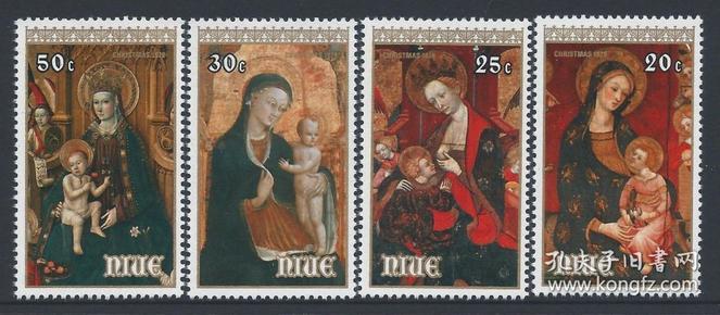 纽埃邮票 1979年 圣诞节 圣母子 4全新